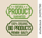 natural product design  vector... | Shutterstock .eps vector #242992780