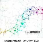 abstract network connection.... | Shutterstock . vector #242994160