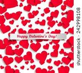valentine vector illustration ... | Shutterstock .eps vector #242998108
