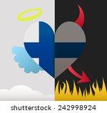 filand background of a heart... | Shutterstock .eps vector #242998924