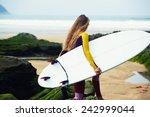 Professional Female Surfer...