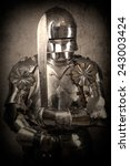 knight wearing armor and... | Shutterstock . vector #243003424