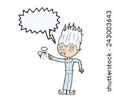 jack frost cartoon with speech... | Shutterstock .eps vector #243003643