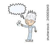 jack frost cartoon with speech... | Shutterstock .eps vector #243003643