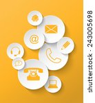 group of yellow contact icons... | Shutterstock .eps vector #243005698