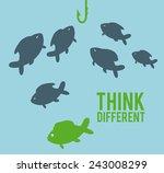 think different design  vector... | Shutterstock .eps vector #243008299