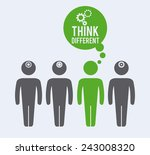 Think Different Design  Vector...