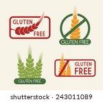 gluten free design  vector...   Shutterstock .eps vector #243011089