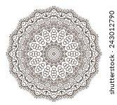 ethnic fractal mandala vector... | Shutterstock .eps vector #243012790