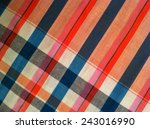colorful fabric plaid ... | Shutterstock . vector #243016990