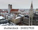 aerial view of munich city... | Shutterstock . vector #243017920