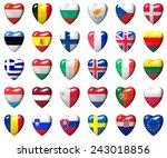 european union countries flags... | Shutterstock . vector #243018856