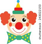 clown face | Shutterstock .eps vector #243022153