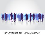 people silhouettes group | Shutterstock .eps vector #243033934