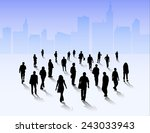 people silhouettes group | Shutterstock .eps vector #243033943