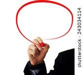 business and advertisement...   Shutterstock . vector #243034114