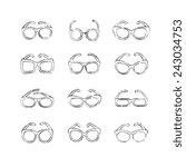 glasses icons set. | Shutterstock .eps vector #243034753