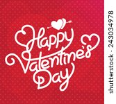 valentines day  | Shutterstock .eps vector #243034978