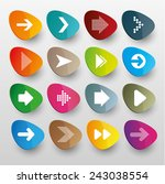 arrow icon set. vector. arrow... | Shutterstock .eps vector #243038554