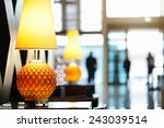 reception area in luxury hotel... | Shutterstock . vector #243039514