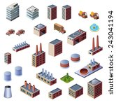 a set of industrial buildings... | Shutterstock . vector #243041194
