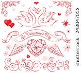 valentine's day. | Shutterstock .eps vector #243047053
