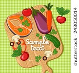 cooking card  poster design.... | Shutterstock .eps vector #243050014