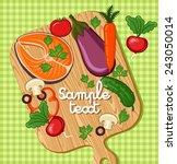 cooking card  poster design.... | Shutterstock .eps vector #243050014