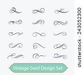 vintage swirl set | Shutterstock .eps vector #243052300