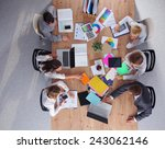 business people sitting and... | Shutterstock . vector #243062146