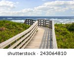 Wooden Walkway Leading To...