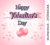 happy valentines day lettering... | Shutterstock .eps vector #243066166