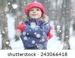 snow  christmas dream girl | Shutterstock . vector #243066418