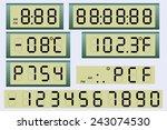electronic scoreboard clock and ...   Shutterstock .eps vector #243074530