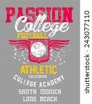 college football team vector art   Shutterstock .eps vector #243077110
