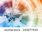 supply channel coordination or... | Shutterstock . vector #243077434