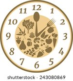 time to healthy eating | Shutterstock .eps vector #243080869