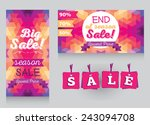 set of design templates for... | Shutterstock .eps vector #243094708