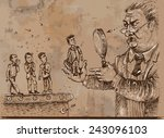 employment. vector illustration ... | Shutterstock .eps vector #243096103