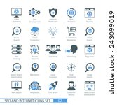 seo internet and development... | Shutterstock .eps vector #243099019