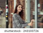 smiling attractive young female ... | Shutterstock . vector #243103726