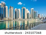 promenade along dubai marina ... | Shutterstock . vector #243107368