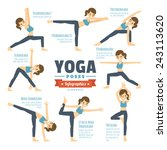 yoga poses infographic elements | Shutterstock .eps vector #243113620