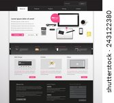 modern website template in... | Shutterstock .eps vector #243122380