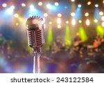 retro microphone against... | Shutterstock . vector #243122584