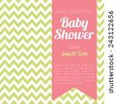 baby shower invitation   green... | Shutterstock .eps vector #243122656