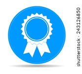vector medallion icon. flat... | Shutterstock .eps vector #243126850