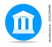 bank icon in flat style with... | Shutterstock .eps vector #243129490