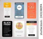 six vector pricing tables for... | Shutterstock .eps vector #243138094
