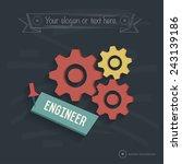 engineer design on blackboard... | Shutterstock .eps vector #243139186